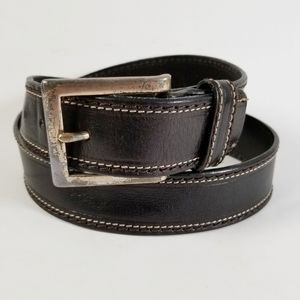 Fossil Women's Black Leather Belt Medium